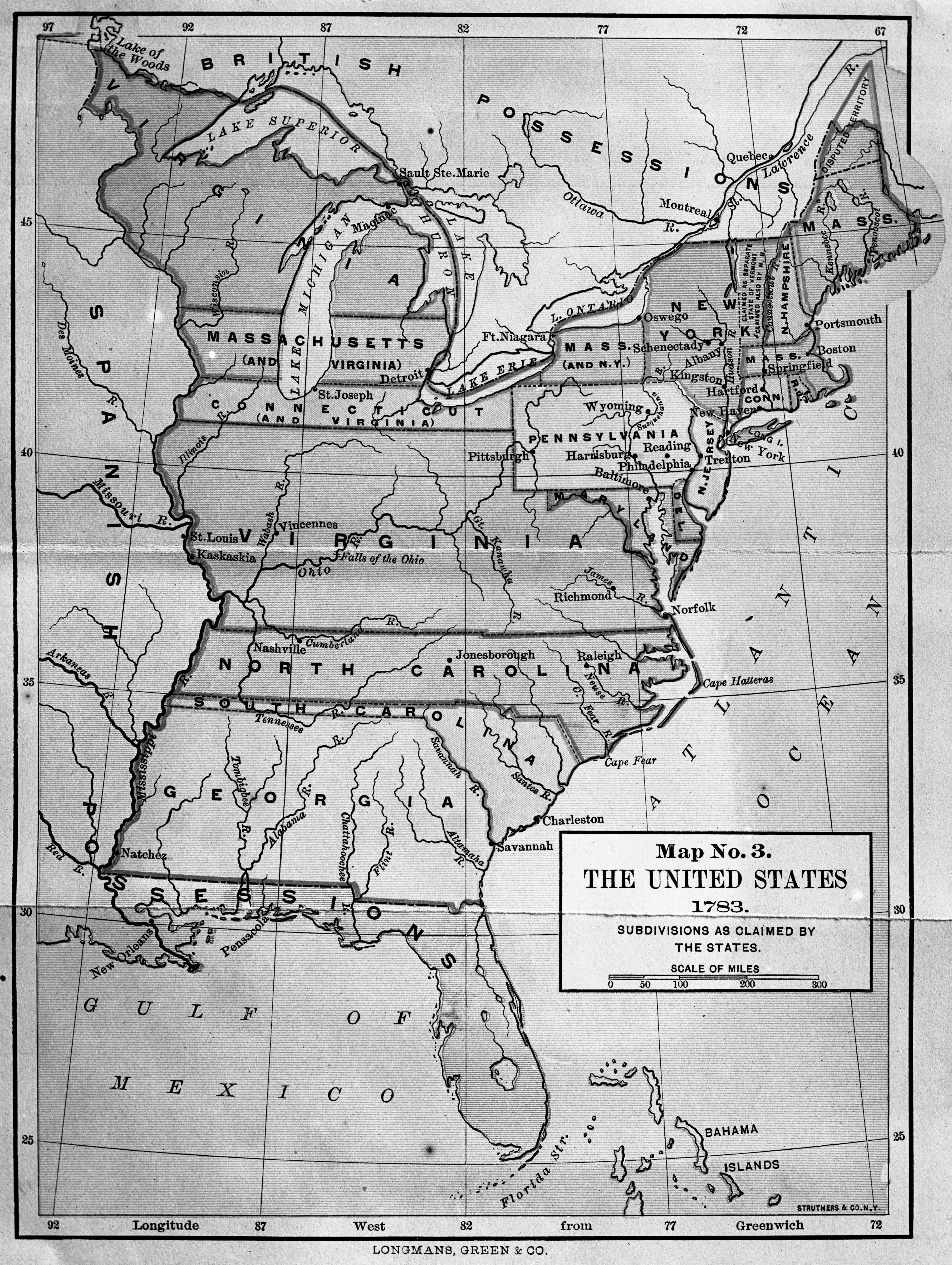 Map Of Us Globalinterco - Topographical map of us of 1783